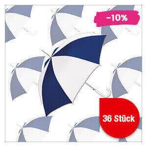 Regenschirm blau/weiß