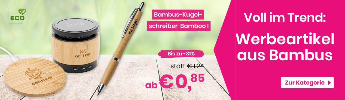 Werbeartikel aus Bambus günstig mit Logo bedrucken – Werbetopshop Ihr Werbeartikel-Discounter