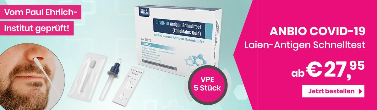 ANBIO COVID-19 Laien-Antigen Nasentupfer Schnelltest bestellen - Werbetopshop Ihr Werbeartikel-Discounter