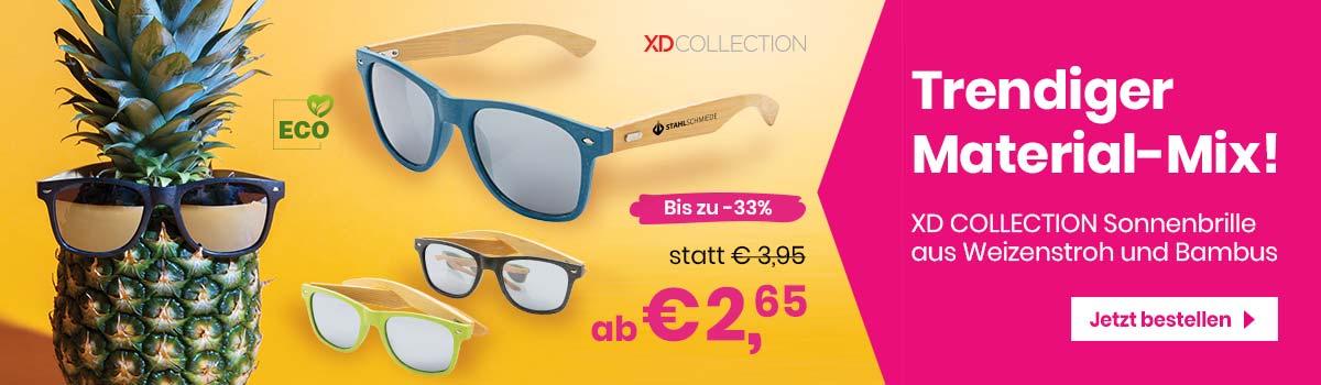 Sonnenbrillen aus Bambus und Weizenstroh bedrucken - Werbetopshop Ihr Werbeartikel-Discounter