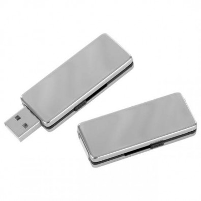 Edelstahl-USB-Stick Valenza, 4 GB