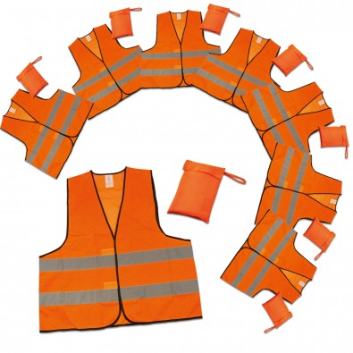 Werbe-Sparset Warnweste im Etui, 60-tlg., Orange