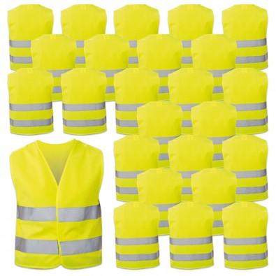 Werbe-Sparset Kinder-Sicherheitsweste, 60-tlg., Gelb