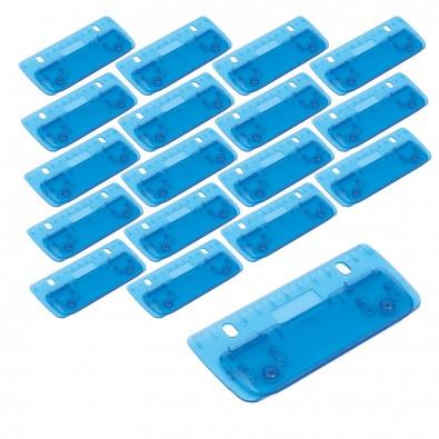 Werbe-Sparset Kunststoff-Locher, 100-tlg., Blau