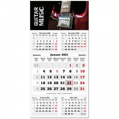 5-Monats-Wandkalender  Times  2020, grau