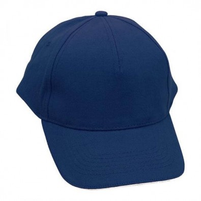 5-Panel Sandwich-Cap Navy/Weiß
