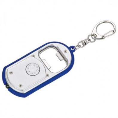Schlüsselleuchte mit Kapselheber Silber/Blau