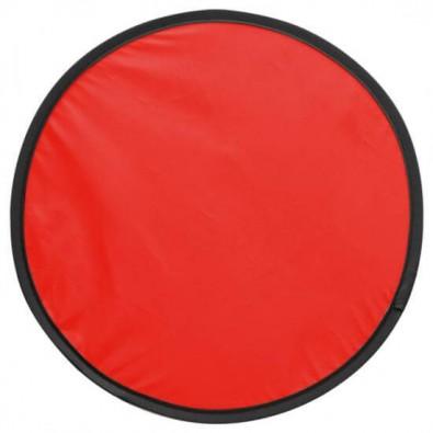 Wurfscheibe in Hülle Rot
