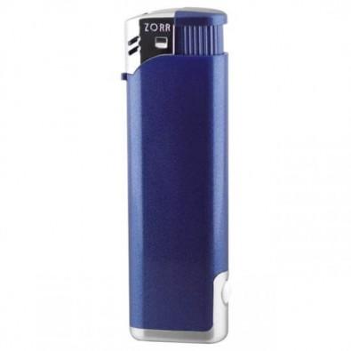 Piezo-LED -Feuerzeug, Blau/Metallic