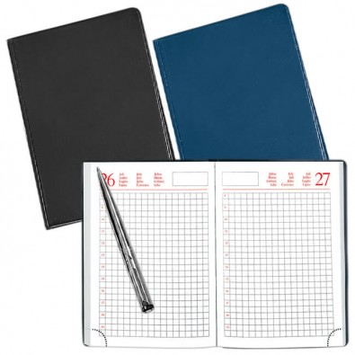 Agenda-Handwerker-Notizbuch, 12-sprachig Blau