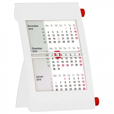 2-Jahres-Tischkalender 2019/2020 Weiß/Rot