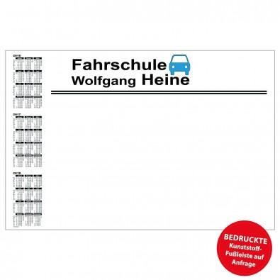 Schreibunterlage mit Kalender links | inkl. 2-farbigem Druck