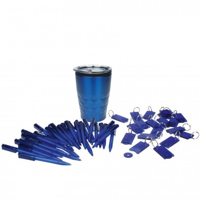 Werbe-Sparset 201-tlg. Kugelschreiber + Schlüsselanhänger Blau