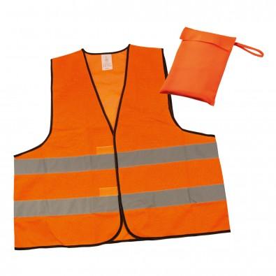 Warnweste im Etui Orange