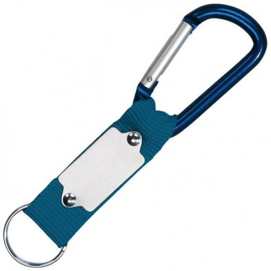 Schlüsselanhänger mit Karabiner, Blau