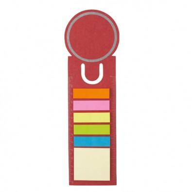 Haftnotiz-Lesezeichen, Rot