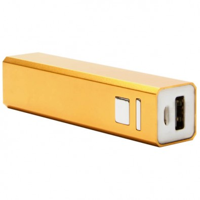 Metall-Ladegerät Powerbank, gold