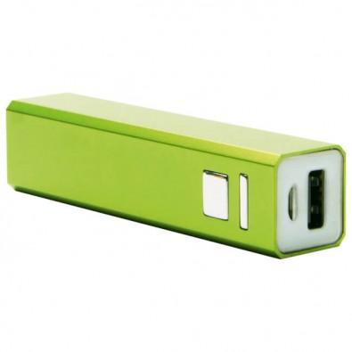 Metall-Ladegerät Powerbank, grün