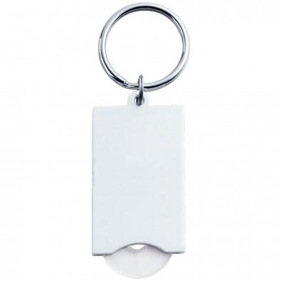 Schlüsselanhänger mit Einkaufswagenchip Quadro