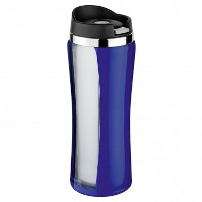 Original Isosteel® Trinkbecher Colorline, 0,4 l, Blau/Silber
