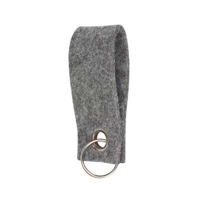Filz-Schlüsselanhänger Grau