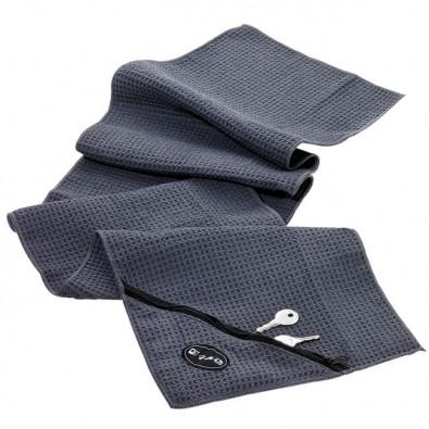 Workout-Handtuch mit Waffelstruktur Grau