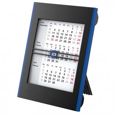 2-Jahres-Tisch-Drehkalender, Schwarz/Blau