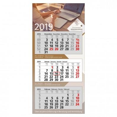 3-Monats-Wandkalender Modern 2019