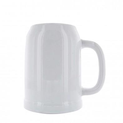 Bierkrug 0,5L, Weiß