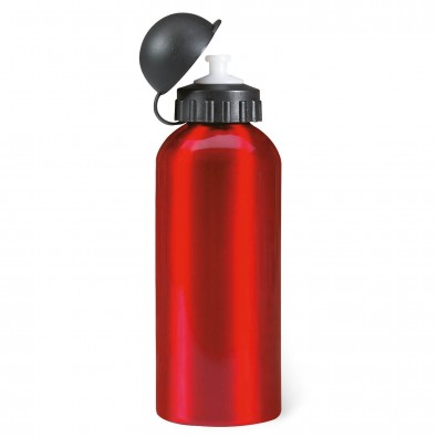 Metall-Trinkflasche Aktiv Rot-Metallic