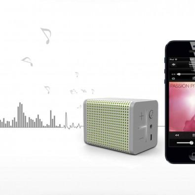 MiPow® Bluetooth Lautsprecher Boomin, Silber