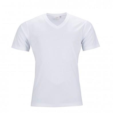 Original James & Nicholson Herren Funktions T-Shirt Active White | L