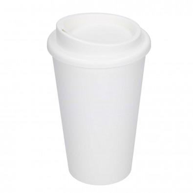 Trinkbecher Coffee-Time weiß