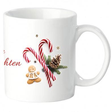 Fototasse mit Weihnachtsmotiv, Frohe Weihnachten