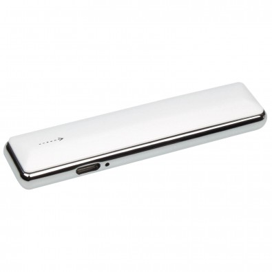 USB-Zigarettenanzünder inkl. Ladekabel, Weiß/Silber