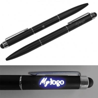 Touch-Kugelschreiber MyLogo mit leuchtender Werbefläche