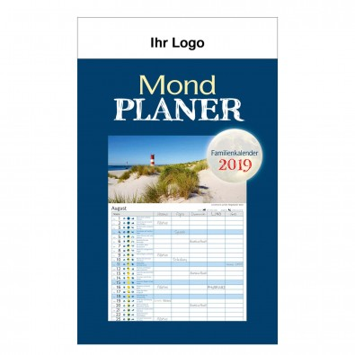 Bildwandkalender Mond-Familienplaner 2019  österreich