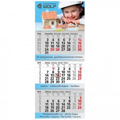 Block-Wandkalender mit Wire-O-Bindung 3 Block Kalender