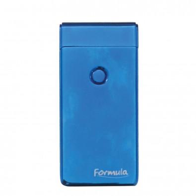 Orig. Formula Lichtbogen-Metall-Feuerzeug Flash, Blau