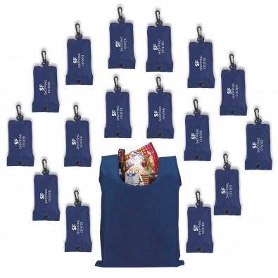 Werbe-Sparset faltbare Einkaufstasche 100tlg, Kobaltblau