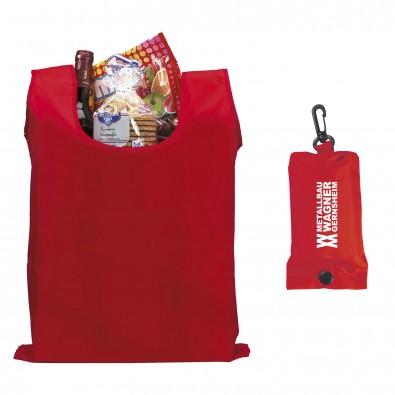 Werbe-Sparset faltbare Einkaufstasche 100tlg, Rot
