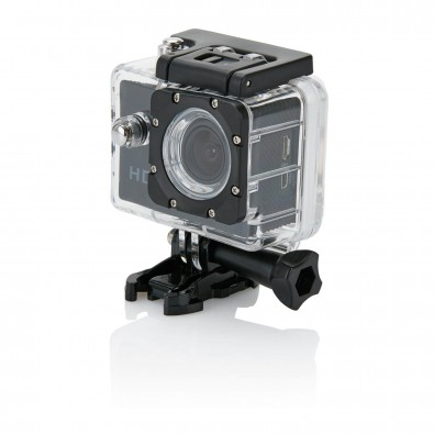 Action Kamera mit 11tlg. Zubehör, schwarz, schwarzschwarz