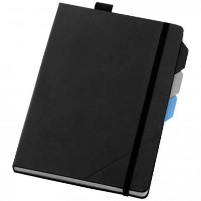 Alpha A5 Notizbuch mit Seitentrennern, schwarz