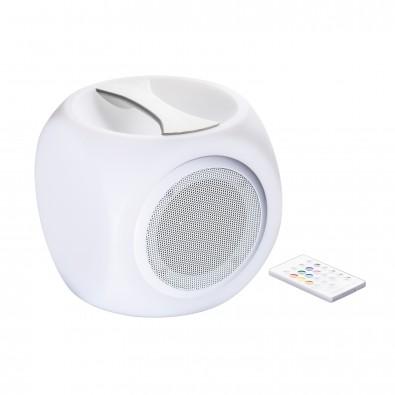 Bluetooth®-Lautsprecher mit Licht REFLECTS-MALBORK, weiß