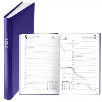 Buchkalender Basic 2020, Dunkelblau