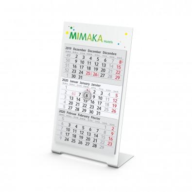 Tischkalender Desktop 3 Color Bestseller, 2-Jahre, weiß