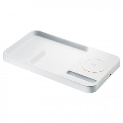 Desktop Organizer mit Wireless Charging REFLECTS-MÉRIGNAC, Weiß