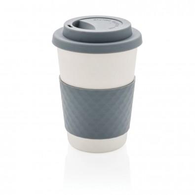 ECO Kaffeebecher aus Bambusfaser, grau grau