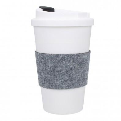 """Kaffeebecher """"PremiumPlus"""" mit Manschette, standard-blau PP"""