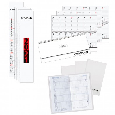 Kalender-Spar-Set 101-tlg. Weiß